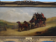 John Charles Maggs (British) 1819-1896 Two Oils on Canvas 'Mail Coach Intercepted by the Hunt' £2000 Rt