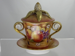 D.Winter - A Royal Worcester Lidded Cup & Saucer £340