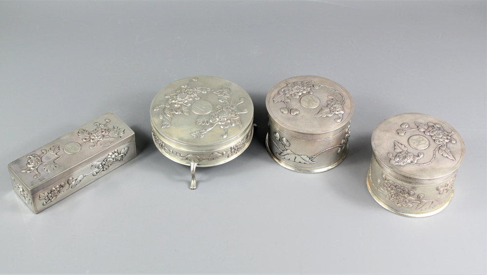 Chinese Silver Zee Shung Vanity Set SOLD FOR £950
