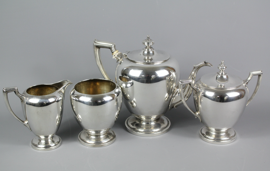 Reed & Barton Sterling Silver Tea Set SOLD FOR  £480