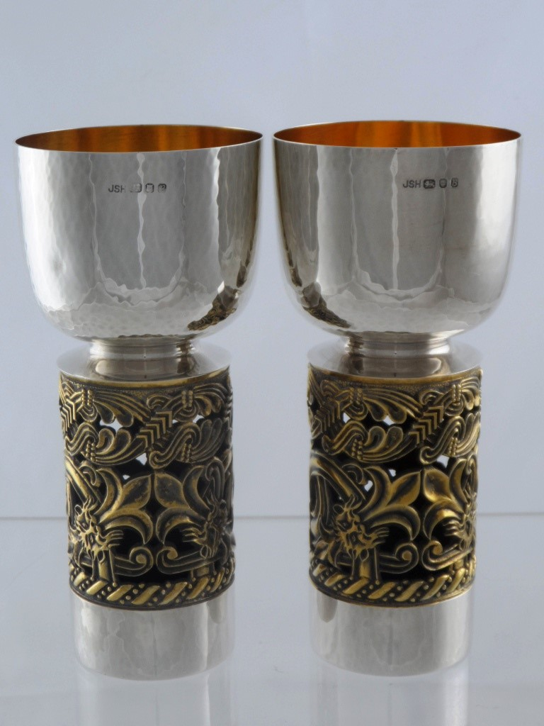 Two Solid Silver Limited Edition Chalices £300