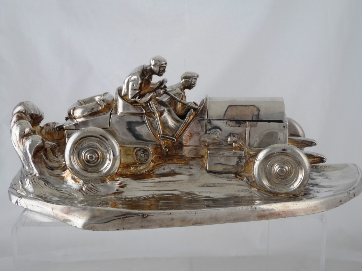 White Metal Ink Stand depicting a Vintage Motor Car £2500