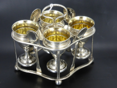 Silver Egg Cup Set and Stand by Mathew Bolton 1805 £750