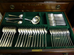 Solid Silver Harrods Canteen of Flatware £1800