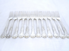 Solid Silver Kings Pattern Small Forks £340