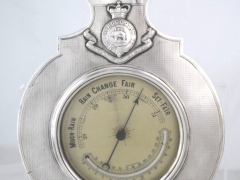 Solid Silver Regimental Barometer Thermometer £1350
