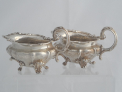 Solid Silver William IV style Sauce Boats £320