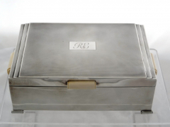 Solid silver Ivory Handled Cigar Box £640