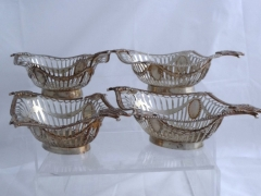 Four Solid Silver Bon Bon Dishes £540
