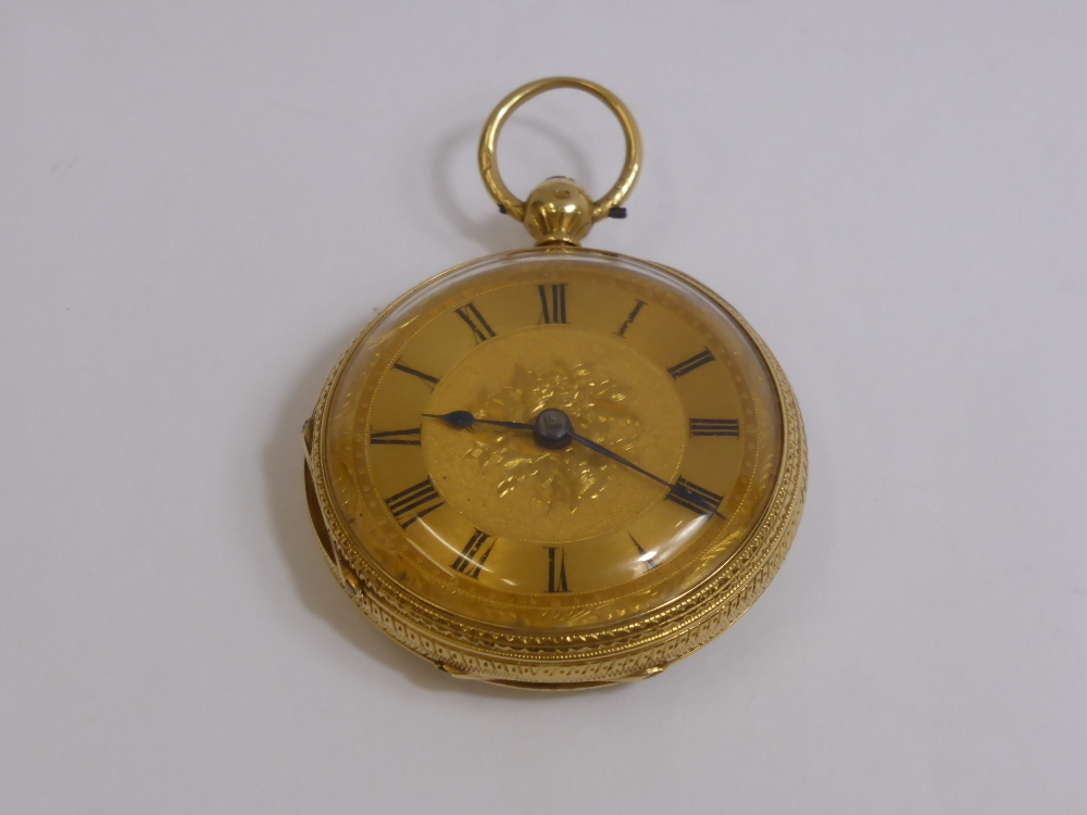 18ct Gold & Open Face Pocket Watch £370