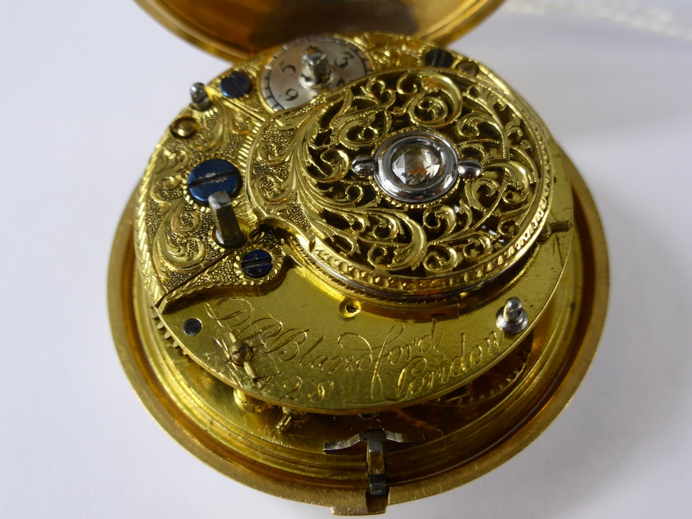 Circa 1800 Gold Fusee Pair Case Watch £1400