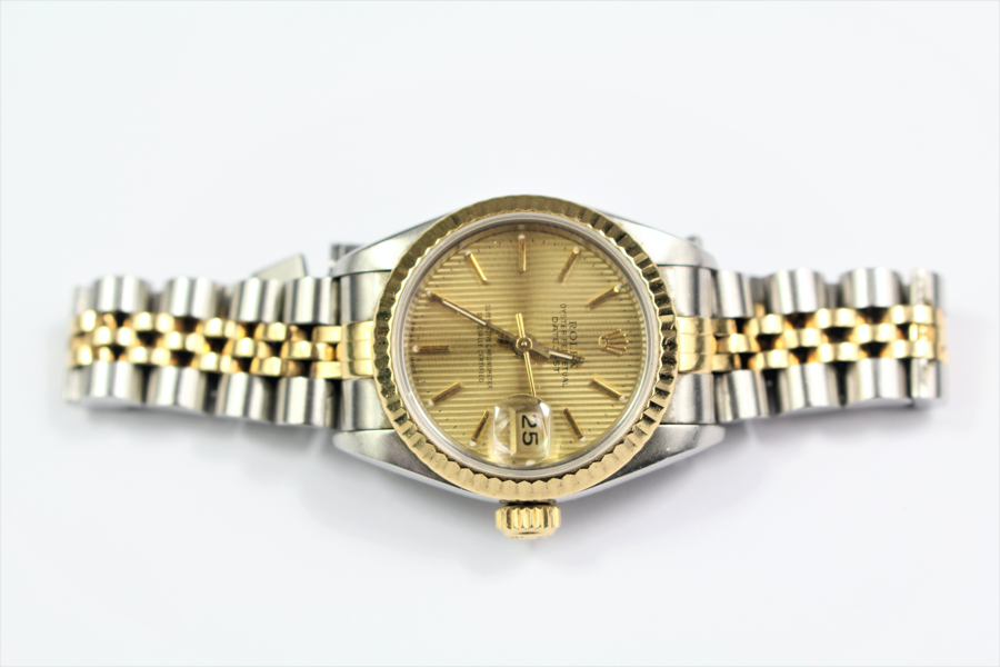 Ladys-Stainless-Steel-and-Gold-Rolex-Oyster-Perpetual-SOLD-FOR-£1600-bespoke-auction-february-ladys-gold-steel-rolex-oyster-perpetual
