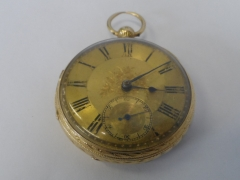 18ct Gold Fusee Pocket Watch £400