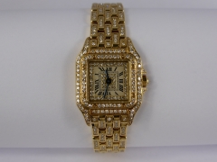 Lady's Cartier 18ct Gold & Diamond Wrist Watch £4,200.jpg