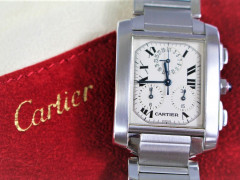 Stainless Steel Cartier Tank Wrist Watch SOLD FOR £1100