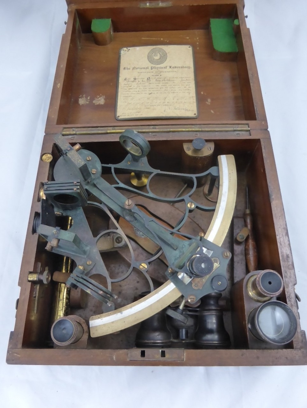 Antique Brass Sextant by Heath & Co. £320