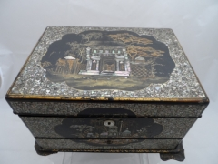 Lacquer Mother of Pear Inlaid Vanity Writing Box £300