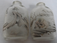 Pair of Chinese 1820 Inside painted Perfume Bottles £550